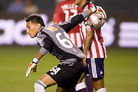 Tigres de UANL goalkeeper Aaron Fernandez. Los Tigres de UANL defeated the Chivas USA 2-1 during a 2009 SuperLiga match at Home Depot Center stadium in Carson, California on Saturday evening June 20, 2009.   .
