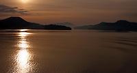 The straits of Georgia.Vancouver island, British Colombia, Canada.