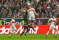 Marc Oliver Kempf (VfB Stuttgart) klärt gegen Ante Rebic (Eintracht Frankfurt) - 31.03.2019: Eintracht Frankfurt vs. VfB Stuttgart, Commerzbank Arena, DISCLAIMER: DFL regulations prohibit any use of photographs as image sequences and/or quasi-video.