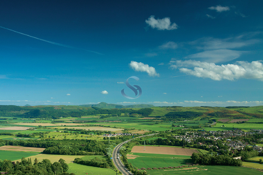 The Lomond Hills from Moncrieffe Hill Fort, Moncrieffe Hill, Perth, Perthshire