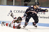 Maggie DiMasi (NU - 4), Jody Sydor (UConn - 4) - The visiting University of Connecticut Huskies defeated the Northeastern University Huskies 4-2 (EN) in NU's senior game on Saturday, February 19, 2011, at Matthews Arena in Boston, Massachusetts.