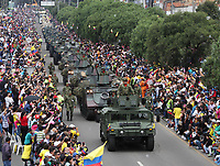 BOGOTA -COLOMBIA , 20- JULIO-2017.Desfile Militar con motivo del 207 Aniversario de la Independencia  Nacional . / Military Parade on the occasion of the 207th Anniversary of National Independence.Photo: VizzorImage / Felipe Caicedo / Staff