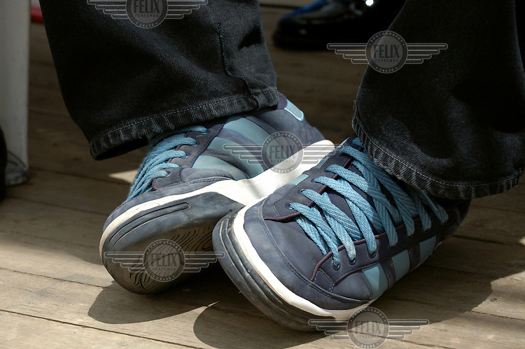 The Adidas trainers of President Evo Morales. Morales' idiosyncratic fashion sense has made him an unlikely style icon.Photo: Dermot Tatlow/Panos Pictures/Felix Features