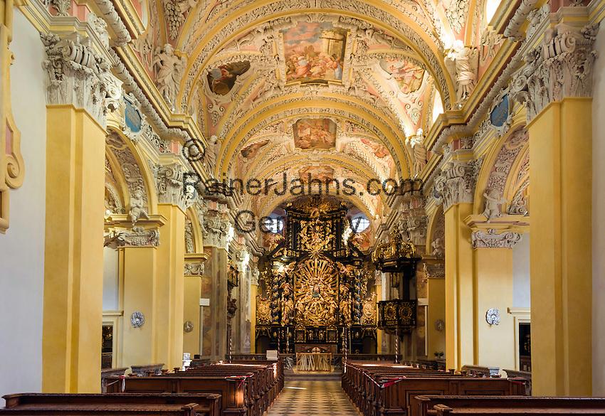 Austria, Styria, Frauenberg: pilgrimage church Frauenberg, interior   Oesterreich, Steiermark, Frauenberg: Wallfahrtskirche Frauenberg (Kirche Mariae Opferung Frauenberg), innen