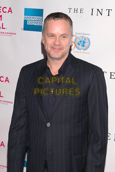 TIM ROBBINS.The premiere of  'The Interpreter', part of the Tribeca Film Festival in New York City, New York.April 19th, 2005.Photo Credit: Patti Oderkirk/AdMedia.half length black suit stubble facial hair.www.capitalpictures.com.sales@capitalpictures.com.© Capital Pictures.