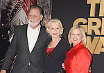 HOLLYWOOD, CA - FEBRUARY 15: (L-R) Director Taylor Hackford, actress Helen Mirren and Mayes C. Rubeo arrive at the premiere of Universal Pictures' 'The Great Wall' at TCL Chinese Theatre IMAX on February 15, 2017 in Hollywood, California.