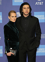 3 January 2019 - Palm Springs, California - Joanne Tucker, Adam Driver. 30th Annual Palm Springs International Film Festival Film Awards Gala held at Palm Springs Convention Center.            <br /> CAP/ADM/FS<br /> &copy;FS/ADM/Capital Pictures
