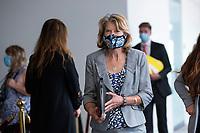 United States Senator Lisa Murkowski (Republican of Alaska) departs GOP policy luncheons on Capitol Hill in Washington D.C., U.S., on Tuesday, June 9, 2020.  Credit: Stefani Reynolds / CNP/AdMedia