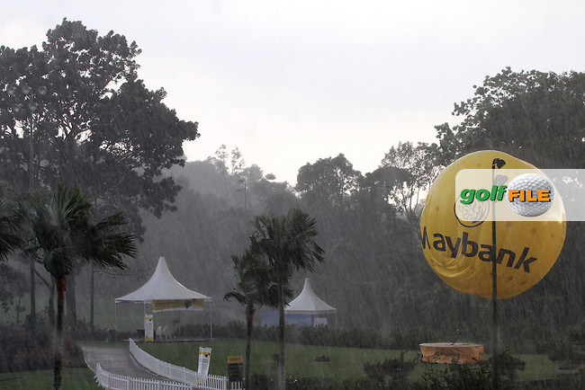 Play resumes this morning at 7.45 as round 2 was suspended yesterday due to storm warnings at the Maybank Malaysian Open 2012 at Kuala Lumpur Golf and Country Club, Kuala Lumpur, Malaysia...(Photo Jenny Matthews/www.golffile.ie)