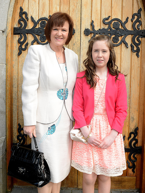 Amy Carson who was confirmed at the Church of Mary Immaculate Collon pictured with mam Mary. Photo:Colin Bell/pressphotos.ie