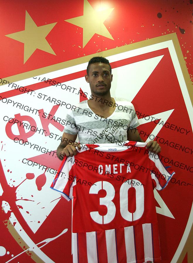 Fudbal <br /> Crvena Zvezda<br /> Promocija novih igraca<br /> Omega Roberts<br /> Beograd, 29.07.2013.<br /> foto: Srdjan Stevanovic/Starsportphoto &copy;