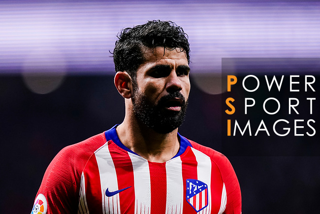 Diego Costa of Atletico de Madrid in action during the La Liga 2018-19 match between Atletico Madrid and FC Barcelona at Wanda Metropolitano on November 24 2018 in Madrid, Spain. Photo by Diego Souto / Power Sport Images