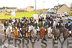 Field Marshall Tim Fitzgerald centre with the Whip Dan O'Sullivan and all the riders and horses who participated in the Firies hunt on Sunday
