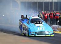 May 6, 2017; Commerce, GA, USA; NHRA funny car driver Tim Wilkerson during qualifying for the Southern Nationals at Atlanta Dragway. Mandatory Credit: Mark J. Rebilas-USA TODAY Sports