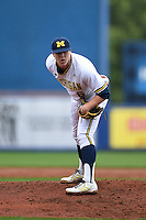 Michigan Wolverines pitcher Bryan Pall (6) during the first game of a doubleheader against the Siena Saints on February 27, 2015 at Tradition Field in St. Lucie, Florida.  Michigan defeated Siena 6-2.  (Mike Janes/Four Seam Images)