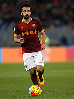 Calcio, Serie A: Roma vs Sampdoria. Roma, stadio Olimpico, 7 febbraio 2016.<br /> Roma&rsquo;s Mohamed Salah in action during the Italian Serie A football match between Roma and Sampdoria at Rome's Olympic stadium, 7 January 2016.<br /> UPDATE IMAGES PRESS/Riccardo De Luca