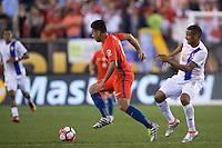 Action photo during the match Chile vs Panama, Corresponding to Group -D- America Cup Centenary 2016 at Lincoln Financial Field.<br /> <br /> Foto de accion durante el partido Chile vs Panama, Correspondiente al Grupo -D- de la Copa America Centenario 2016 en el  Lincoln Financial Field, en la foto: (i-d)  Gonzalo Jara de Chile y Gabriel Torres de Panama<br /> <br /> <br /> 14/06/2016/MEXSPORT/Osvaldo Aguilar.