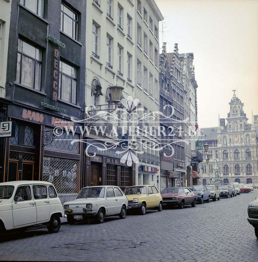 Februari 1978. Grote Markt in Antwerpen.