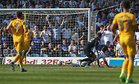 Leeds United's Pablo Hernandez beats Preston North End's Chris Maxwell to score his side's second goal<br /> <br /> Photographer Alex Dodd/CameraSport<br /> <br /> The EFL Sky Bet Championship - Leeds United v Preston North End - Saturday 8th April 2017 - Elland Road - Leeds<br /> <br /> World Copyright &copy; 2017 CameraSport. All rights reserved. 43 Linden Ave. Countesthorpe. Leicester. England. LE8 5PG - Tel: +44 (0) 116 277 4147 - admin@camerasport.com - www.camerasport.com
