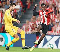 Athletic de Bilbao's Inaki Williams (r) and FC Barcelona's Gerard Pique during La Liga match. August 16,2019. (ALTERPHOTOS/Acero)<br /> Liga Spagna 2019/2020 <br /> Atletico Bilbao - Barcellona<br /> Foto Alterphotos / Insidefoto <br /> ITALY ONLY