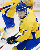 Marcus Sörensen (Sweden - 22) - The Merrimack College Warriors defeated the visiting Sweden Under 20 team 4-1 on Tuesday, November 2, 2010, at Lawler Arena in North Andover, Massachusetts.