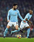 Ilkay Gundogan of Manchester City during the premier league match at the Etihad Stadium, Manchester. Picture date 16th December 2017. Picture credit should read: Robin ParkerSportimage
