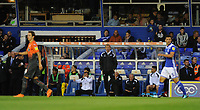 BIRMINGHAM, ENGLAND - AUGUST 17:Swansea City manager Graham Potter during the Sky Bet Championship match between Birmingham City and Swansea City at St Andrew's Trillion Trophy Stadium on August 17, 2018 in Birmingham, England.