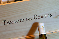 wooden case stamped terroir de corton dom m juillot mercurey burgundy france