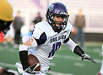 SIOUX FALLS, SD - APRIL 28: Jeremiah Oats #10 of the University of Sioux Falls eyes the defense on a kick return during the Cougars spring scrimmage Saturday evening at Bob Young Field. (Photo by Dave Eggen/Inertia)