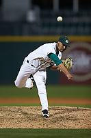 Charlotte 49ers relief pitcher Carson Pinkney (32) in action against the North Carolina Tar Heels at BB&T BallPark on March 27, 2018 in Charlotte, North Carolina. The Tar Heels defeated the 49ers 14-2. (Brian Westerholt/Four Seam Images)