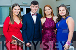 Amanda O'Sullivan, David O'Sullvan, Rebecca O'Neill and Sadhbh Ní Chonaill, pictured at Coláiste Íde, Dingle Debs held at the Earl of Desmond, Hotel, Tralee, on Tuesday night last.