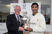 Image courtesy of Cricket Scotland - Majid Haq accepts the Citylets Scottish Cup - for further information please contact Ben Fox, Cricket Scotland, on 07825 172 348 - picture by Donald MacLeod - 21.08.16 - 07702 319 738 - clanmacleod@btinternet.com - www.donald-macleod.com