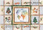 Isabella, CHRISTMAS SYMBOLS, corporate, paintings, earth, tree, snowmen(ITKE501479,#XX#) Symbole, Weihnachten, Geschäft, símbolos, Navidad, corporativos, illustrations, pinturas