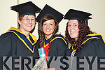 General Nursing graduates pictured at the ITT graduations in the Brandon Hotel on Friday, from left: Lisa Harrington (Kenmare), Triona Moriarty (Lispole), Ann Marie Diggin (Caragh Lake).