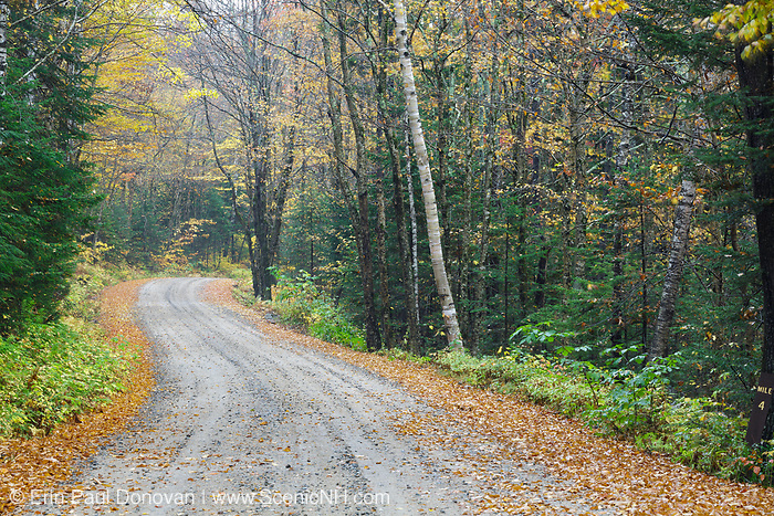 Tripoli Road in Livermore, New Hampshire USA during the autumn months