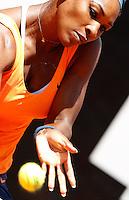 La statunitense Serena Williams in azione durante gli Internazionali d'Italia di tennis a Roma, 18 Maggio 2013..Serena Williams, of the United States, in action during the Italian Open Tennis WTA tournament in Rome, 18 May 2013.UPDATE IMAGES PRESS/Isabella Bonotto