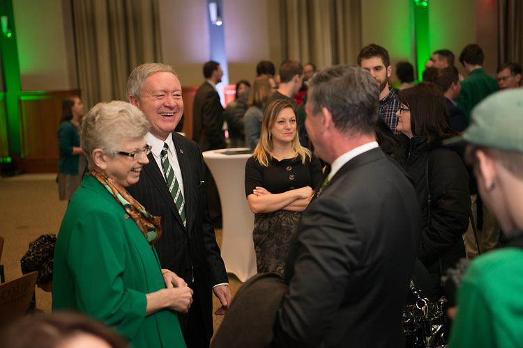 The Ohio University community welcome  incoming President Duane Nellis and incoming First Lady Ruthie Nellis at a reception on on Friday, March 17. Photo By Ben Siegel