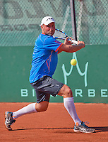 Netherlands, Amstelveen, August 23, 2015, Tennis,  National Veteran Championships, NVK, TV de Kegel,  Men's single final 50+ years: Hans van Scheppingen<br /> Photo: Tennisimages/Henk Koster