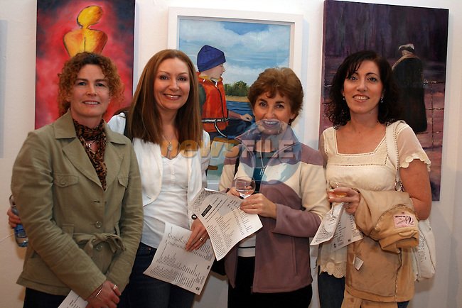 "Barbara Pepper, Jackie Lalor, Claire Cox who won first prize with her painting ""Simon"" and Conchita McDonnell at the Art and Hobby Exhibition of amateur art in Droichead Arts Centre...Photo NEWSFILE/Jenny Matthews.(Photo credit should read Jenny Matthews/NEWSFILE)....This Picture has been sent you under the condtions enclosed by:.Newsfile Ltd..The Studio,.Millmount Abbey,.Drogheda,.Co Meath..Ireland..Tel: +353(0)41-9871240.Fax: +353(0)41-9871260.GSM: +353(0)86-2500958.email: pictures@newsfile.ie.www.newsfile.ie.FTP: 193.120.102.198."