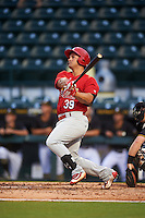 Palm Beach Cardinals designated hitter Orlando Olivera (39) at bat during a game against the Bradenton Marauders on August 8, 2016 at McKechnie Field in Bradenton, Florida.  Bradenton defeated Palm Beach 5-4 in 11 innings.  (Mike Janes/Four Seam Images)