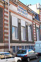 The front of the building at Champagne Henriot, Reims, Champagne, Marne, Ardennes, France