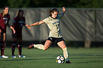 Maddie Huster (11) of the Wake Forest Demon Deacons scores on a penalty shot during first half action against the South Carolina Gamecocks at Spry Soccer Stadium on August 24, 2017 in Winston-Salem, North Carolina.  The Demon Deacons defeated the Gamecocks 3-2.  (Brian Westerholt/Sports On Film)