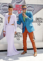 LOS ANGELES, CA - JUNE 26: Danielle Mone Truitt, Orlando Jones at the 2016 BET Awards at the Microsoft Theater on June 26, 2016 in Los Angeles, California. Credit: Koi Sojer/MediaPunch
