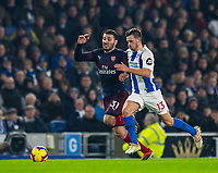 Brighton & Hove Albion's Pascal Gross (right) battles with Arsenal's Sead Kolasinac (left) <br /> <br /> Photographer David Horton/CameraSport<br /> <br /> The Premier League - Brighton and Hove Albion v Arsenal - Wednesday 26th December 2018 - The Amex Stadium - Brighton<br /> <br /> World Copyright © 2018 CameraSport. All rights reserved. 43 Linden Ave. Countesthorpe. Leicester. England. LE8 5PG - Tel: +44 (0) 116 277 4147 - admin@camerasport.com - www.camerasport.com