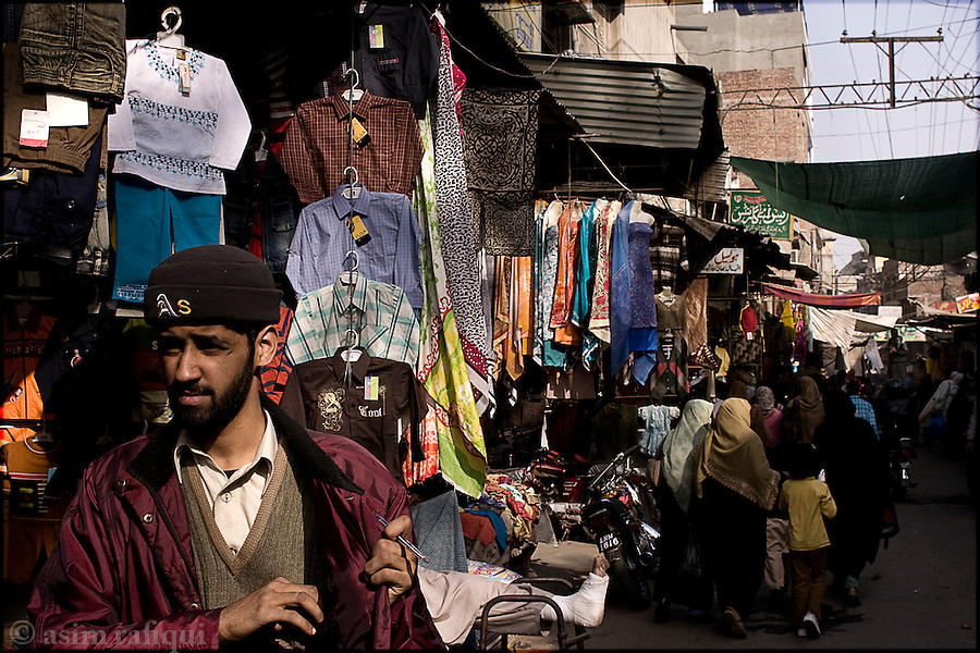 in one of the bazaars in the old city of lahore