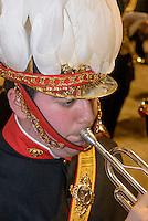 Musiker bei  der Karfreitagsprozession der Semana Santa (Karwoche) in Lorca,  Provinz Murcia, Spanien, Europa