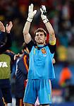 Iker Casillas, Soccer Football - 2010 FIFA World Cup - Johannesburg, South Africa, Saturday, 03, July, 2010. Round of eight, quarter-finals, Spain vs Paraguay, Ellis Park Stadium 03.7.2010. (credit & photo: Pedja Milosavljevic / +381 64 1260 959 / thepedja@gmail.com / STARSPORT )