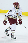 Carl Sneep 7 of Boston College is introduced as a starter. The Eagles of Boston College defeated the Falcons of Bowling Green State University 5-1 on Saturday, October 21, 2006, at Kelley Rink of Conte Forum in Chestnut Hill, Massachusetts.<br />