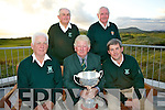 Ref Sylvester H..The Waterville Golf Club's team who won the Inaugural John B. O'Shea Memorial Trophy at Beaufort GC on Wednesday 20th July were front l-r; John Quinlan, Hugh Mullins(Captain WGC), Mike Murphy, back l-r; Sean O'Sullivan & James O'Connor.