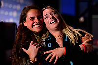 Philadelphia, PA - Thursday January 18, 2018: Emily Boyd, Indigo Gibson during the 2018 NWSL College Draft at the Pennsylvania Convention Center.